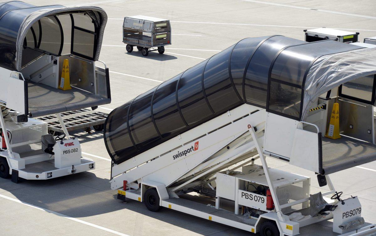 Compañía Swissport en el aeropuerto de Bruselas (Foto. Swissport)