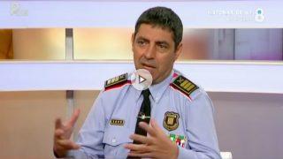 El jefe de los Mossos d'Esquadra, Josep Lluís Trapero, en 8TV.