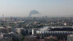 La columna de humo es visible desde los puntos más altos de Madrid. Foto: @davidazcarate