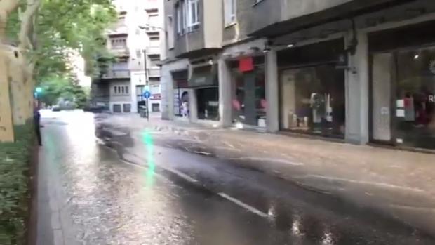 La gestión del alcalde podemita de Zaragoza provoca fuertes inundaciones en la ciudad