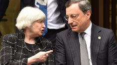 Mario Draghi, presidente del BCE y Janet Yellen, presidenta de la Fed (Foto. Getty)