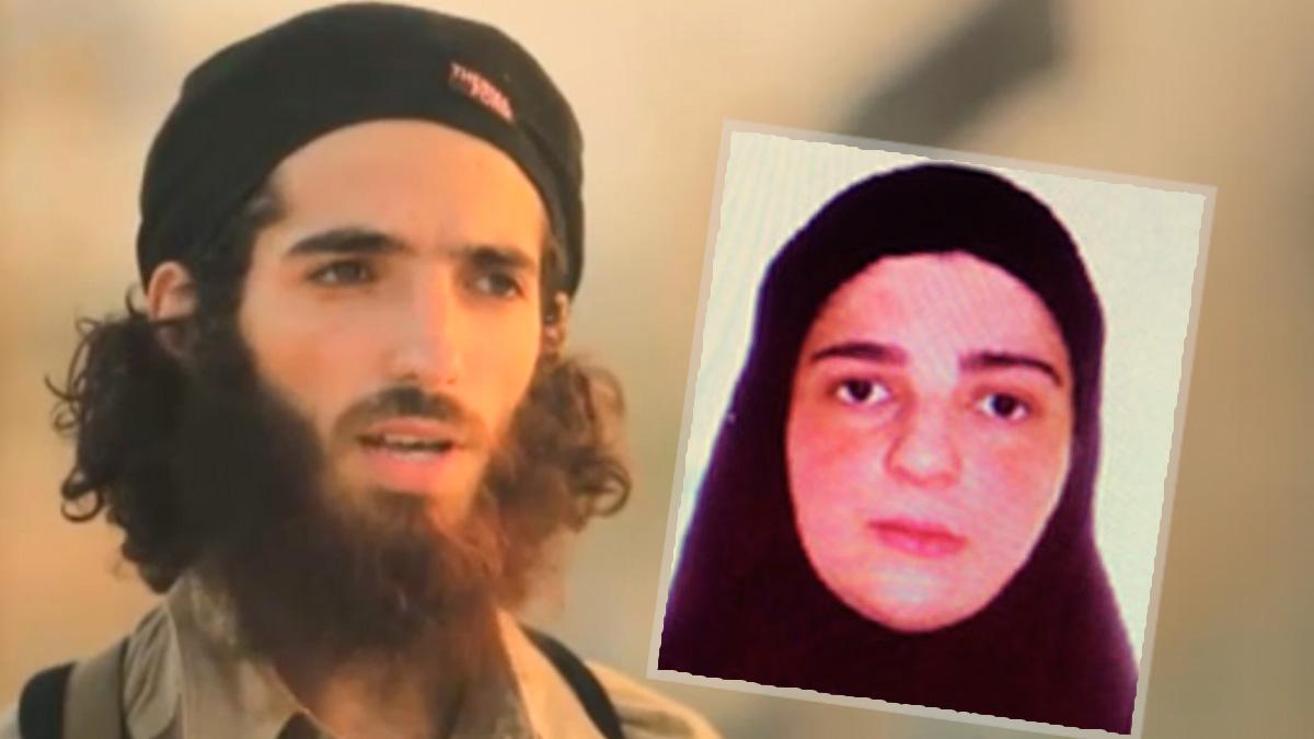 El portavoz español de Estado Islámico, Muhammad Yasin Ahram Pérez, junto a su madre, Tomasa Pérez.
