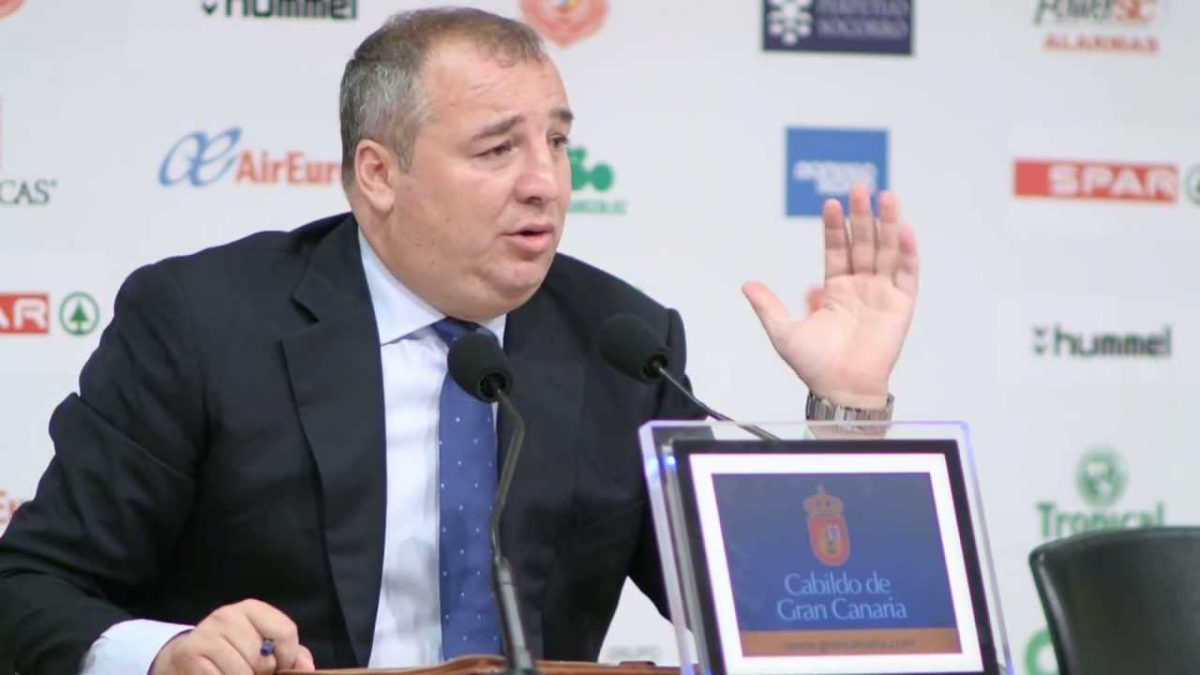 Miguel Angel Ramírez, presidente de UD Las Palmas y accionista de SIC (Foto. Youtube)
