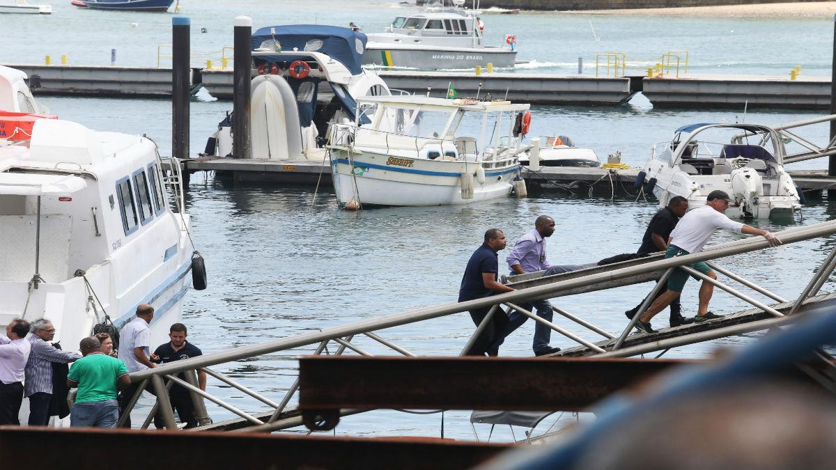 Hundimiento en Salvador de Bahía (Foto: AFP)