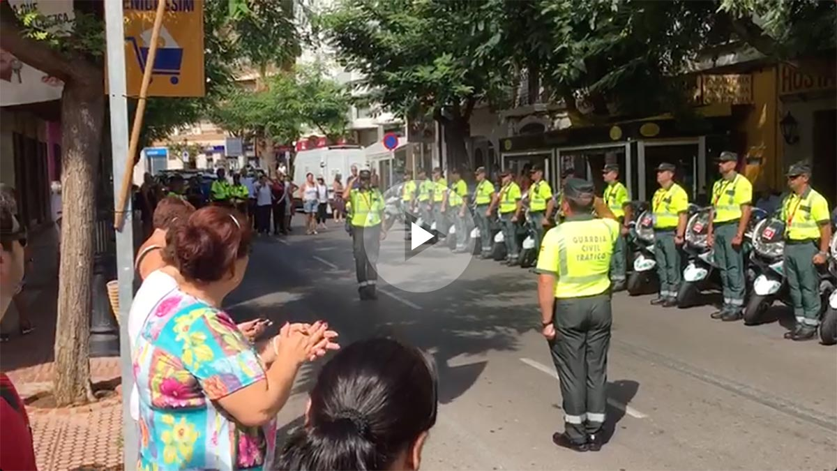 La Guardia Civil en la salida de la Vuelta ciclista