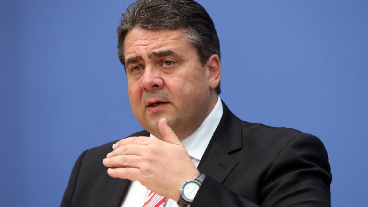 El ministro de Exteriores alemán, Sigmar Gabriel.