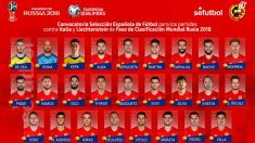 Lista de convocados de España.