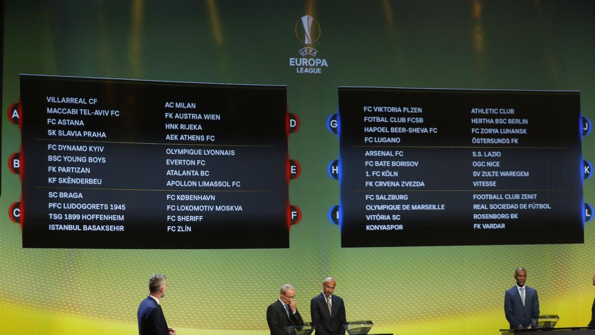 Sorteo de la Europa League. (AFP)