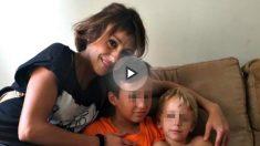 Juana Rivas con sus dos hijos. Foto: EFE