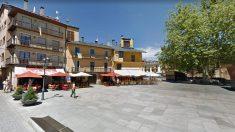 Plaza central de Puigcerdà (Gerona).