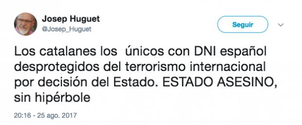 Tuit de Josep Huguet