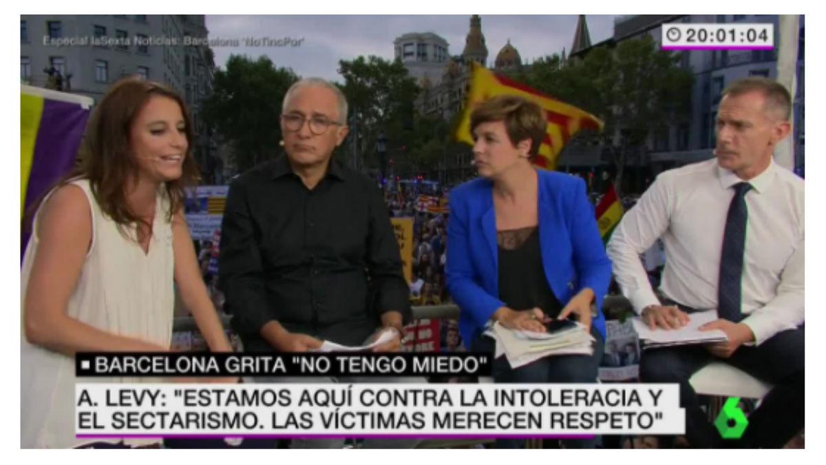 Andrea Levy, durante la entrevista en La Sexta, este sábado.