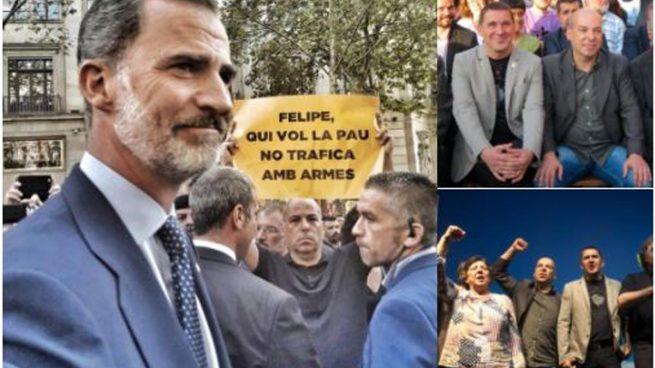 El manifestante que acusó al Rey con una pancarta fue el organizador del homenaje al terrorista Otegi