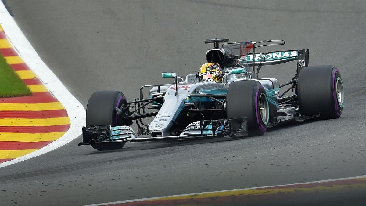 Lewis Hamilton ganó en Spa. (AFP)