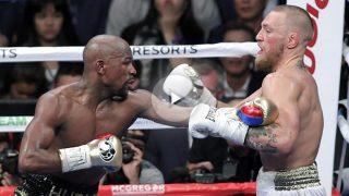 Mayweather impuso el ritmo ante McGregor. (AFP)