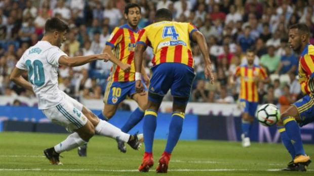 Asensio marca el 1-0 para el Real Madrid. (AFP)
