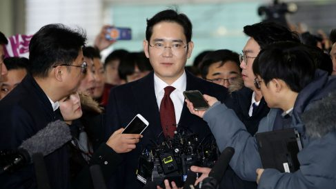El heredero del grupo Samsung, Lee Jae-yong. (Foto: Getty)