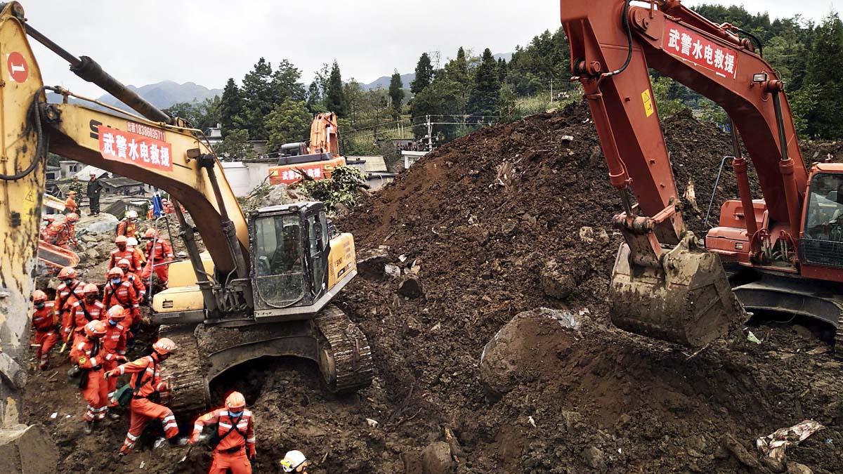 Deslizamiento de tierra en China (Foto: AFP)