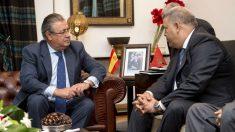 Juan Ignacio Zoido con su homólogo marroquí, Abdelouafi Laftit. (AFP)