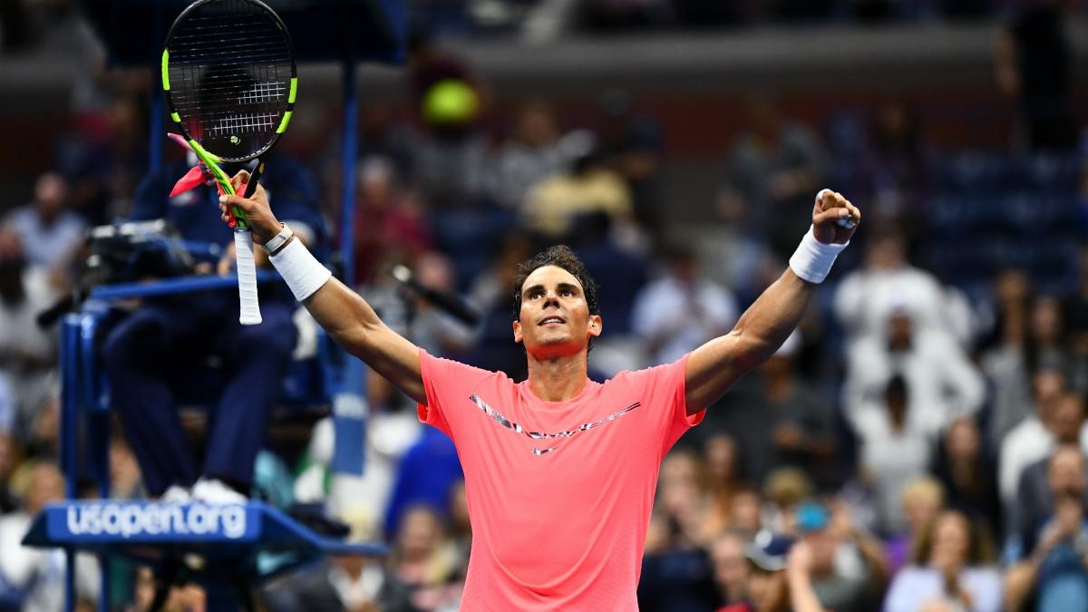 Nadal celebra su victoria ante Lajovic. (AFP)