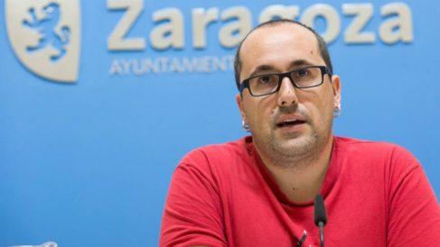 Alberto Cubero, concejal de Podemos del Ayuntamiento de Zaragoza