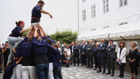 Acto en la «embajada» catalana en Dinamarca