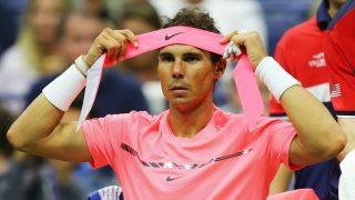 Rafa Nadal, en su partido de primera ronda ante Lajovic. (Getty)
