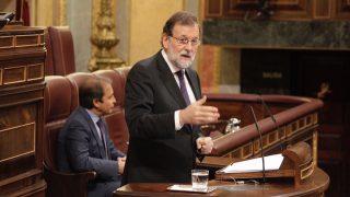 Mariano Rajoy interviene por segunda vez en la comparecencia extraordinaria. (Foto: Francisco Toledo)