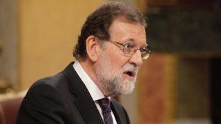 Rajoy en el Congreso de los Diputados durante la comparecencia de hoy. (Foto: Francisco Toledo)