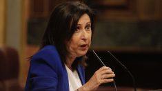 Margarita Robles, portavoz del PSOE, replica a Mariano Rajoy en la sesión extraordinaria. (Foto: Francisco Toledo)