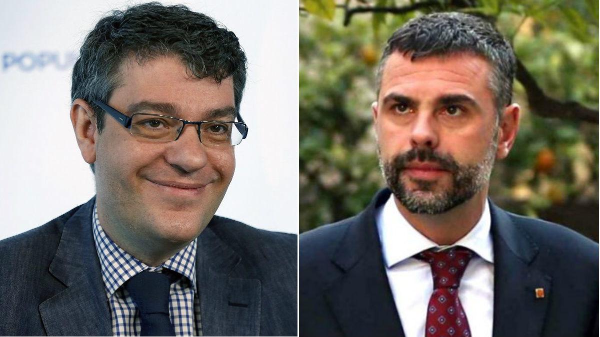 El ministro Álvaro Nadal y el consejero Santi Vila. (EFE)