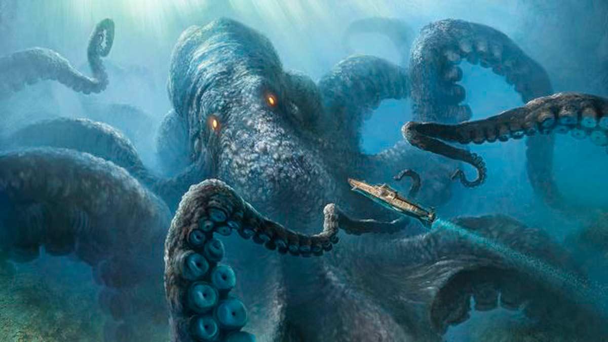 El calamar gigante es un animal ancestral que vive en las profundidades del océano.