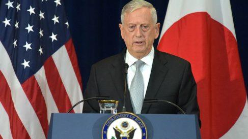 El secretario de Defensa estadounidense James Mattis en una reciente imagen (Foto: AFP).