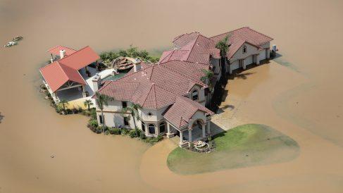Efectos del huracán 'Harvey' en Houston, Texas. (Foto: AFP)