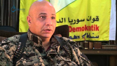 Talal Sello, portavoz de las Fuerzas Democraticas Sirias (FDS).