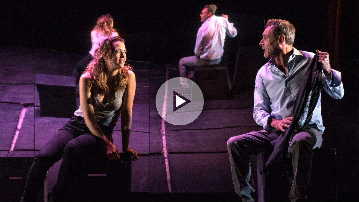 Celia Vioque y Daniel Freire en una escena de 'El cíclope y otras rarezas del amor'. (FOTO: David Ruiz)