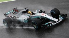 Hamilton, en el Gran Premio de Italia. (AFP)