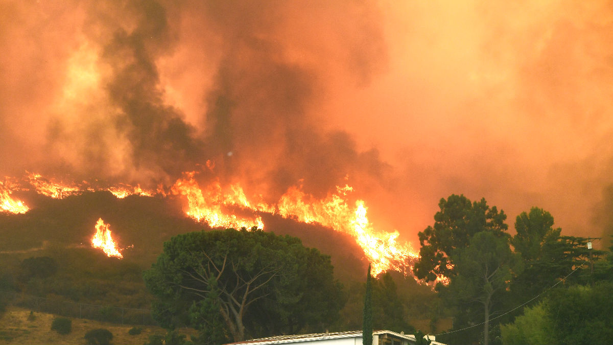 Imagen de un incendio. (Foto: AFP).