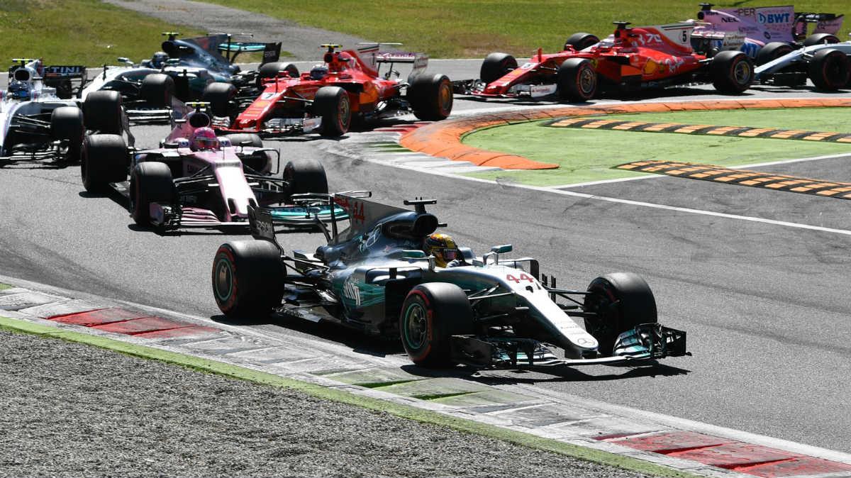 Hamilton mandó en el Gran Premio de Italia. (AFP)