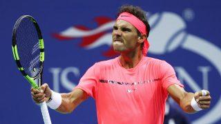 Nadal celebra un punto frente a Mayer. (AFP)