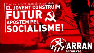 Cartel de Arran, las juventudes independentistas de la CUP.