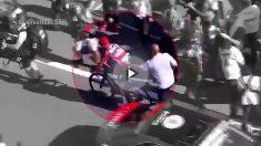 Chris Froome, en la meta de la duodécima etapa de La Vuelta.