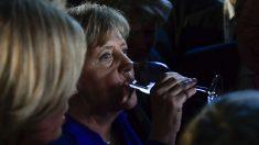 Angela Merkel tras el debate electoral con Martin Schulz (Foto: AFP)
