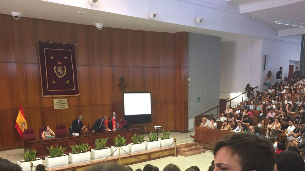 Aula Magna de la Facultad de Derecho en la Universidad Complutense de Madrid