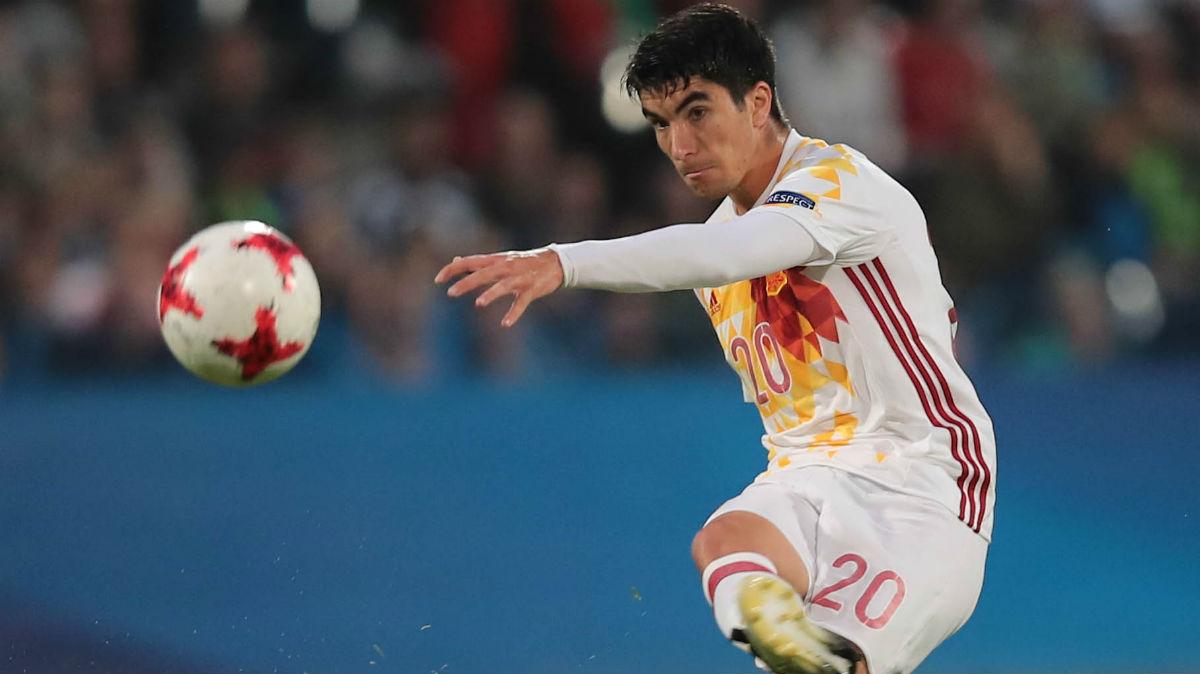 Carlos Soler, en un partido con la selección sub 21. (AFP)