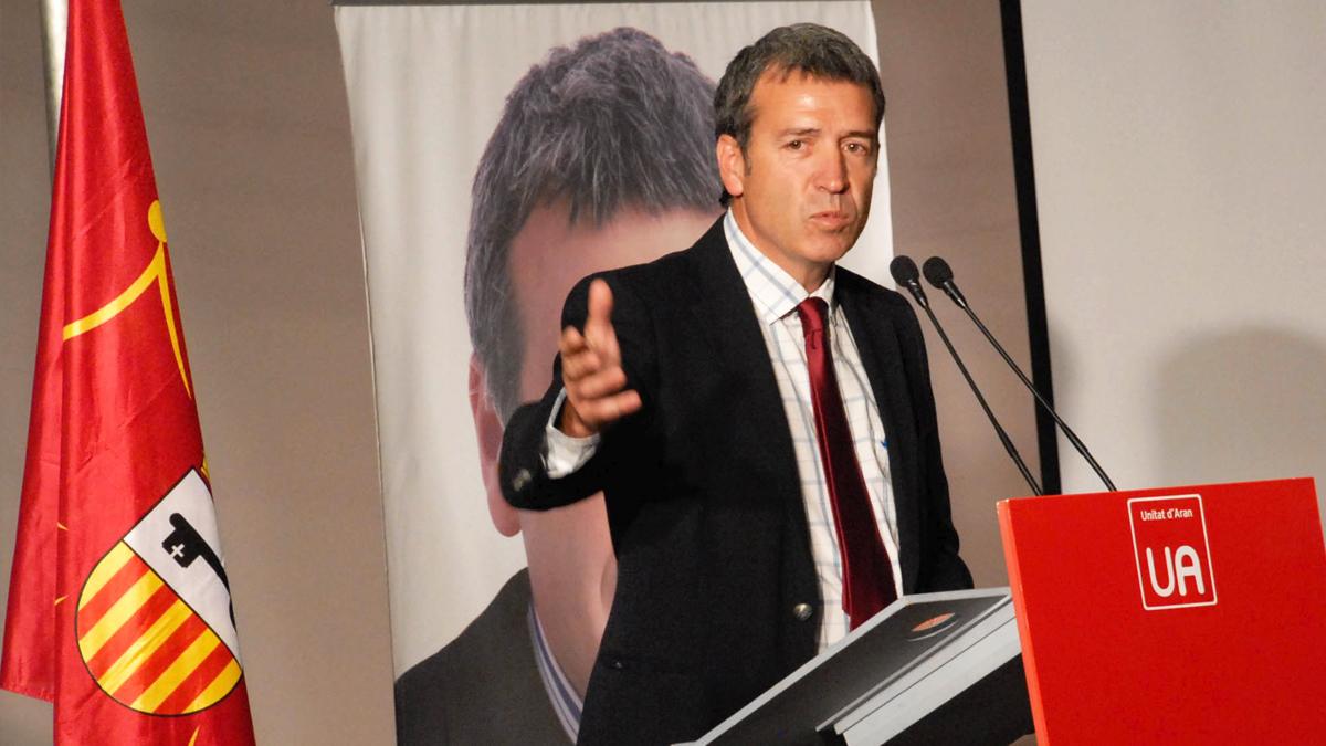 Francés Boya, secretario general de Unitat d'Aran. (Foto: UA)