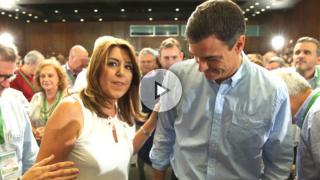 Susana Díaz y Pedro Sánchez. (Foto: EFE)