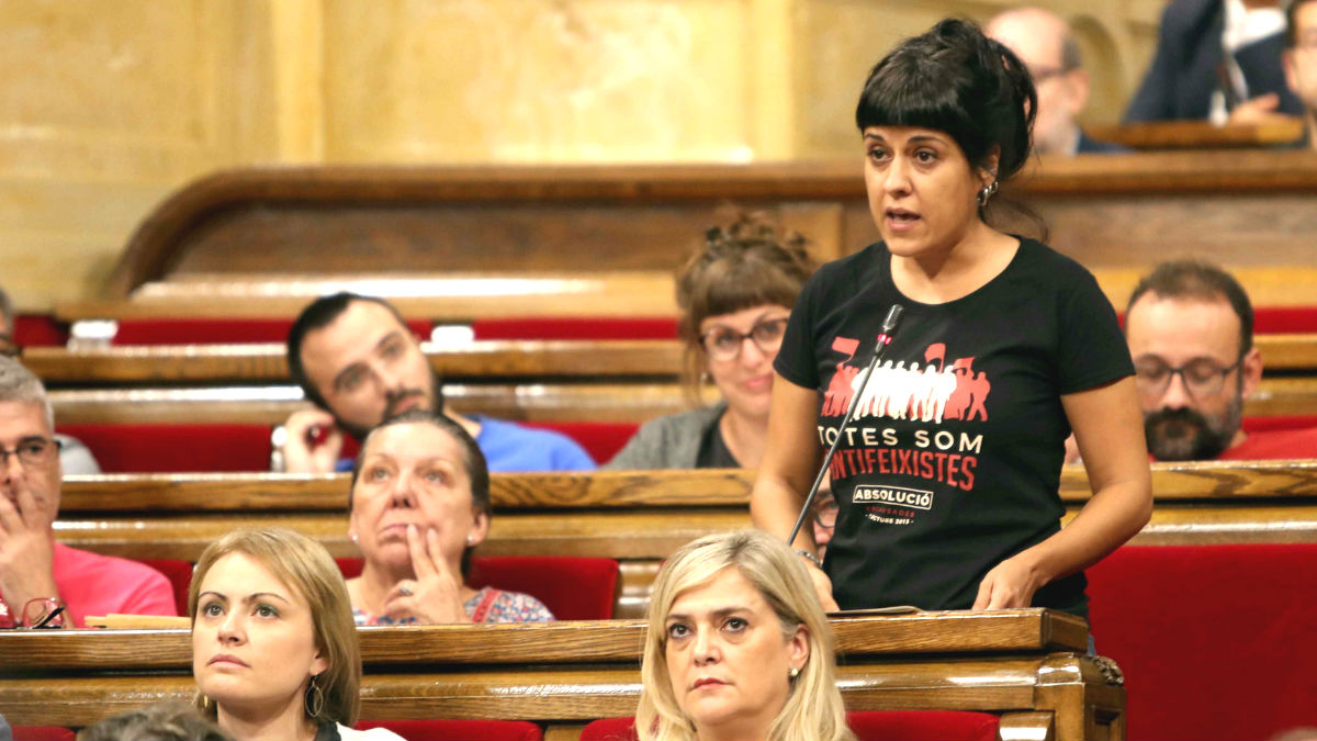 La diputada de la CUP en el Parlament de Cataluña, Anna Gabriel (Foto: Efe)
