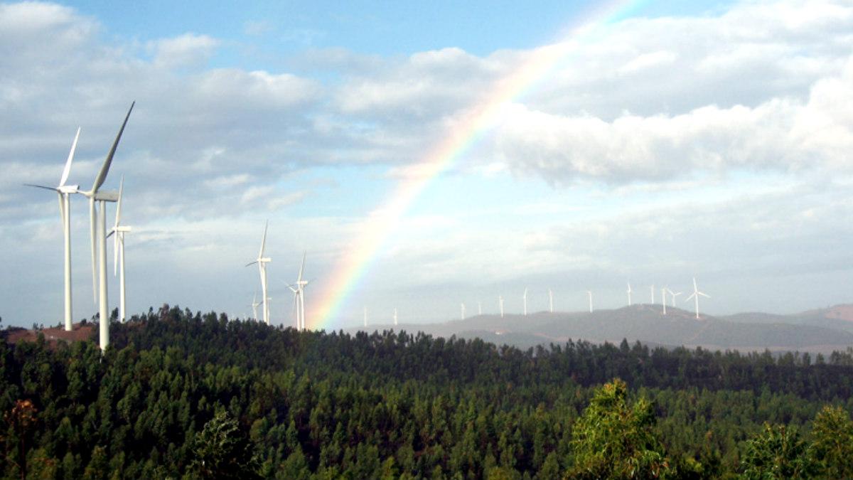 Un parque de molinos eólicos de Iberdrola.
