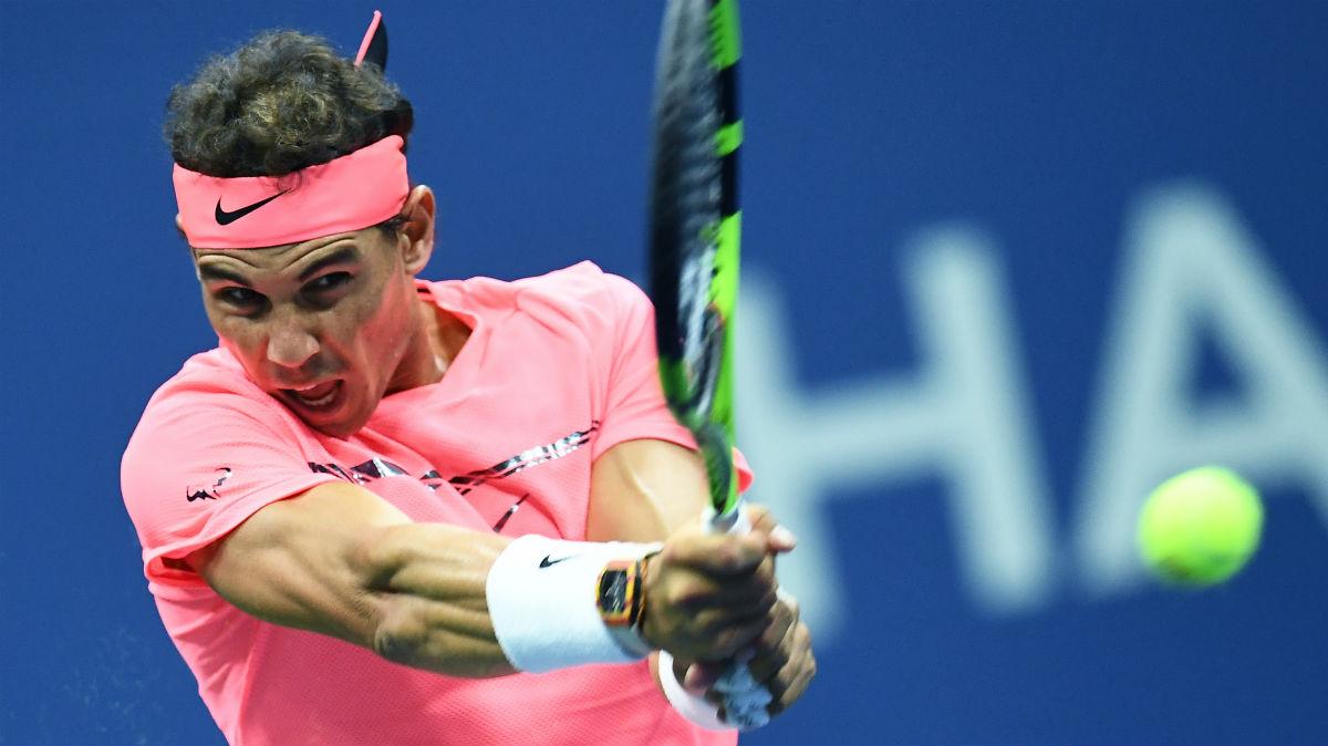 Rafa Nadal, en el partido del US Open contra Rublev. (AFP)